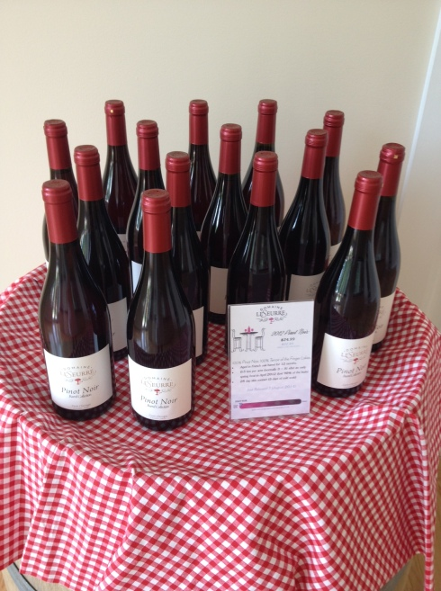 Domaine LeSeurre released their first red wine earlier this month, a stunning Pinot Noir.
