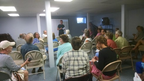 Residents gathered at The Wolcott Library July 11 to learn more about Lake Ontario